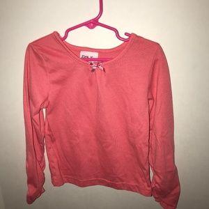 Pink Long Sleeve Bow Shirt
